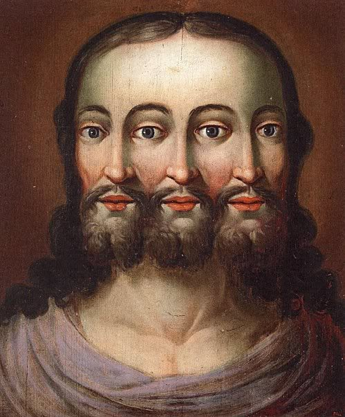 Jesus como Trindade. Museum of Folk Life and Folk Art, Schloss Hellbrunn. Ca. 1610.