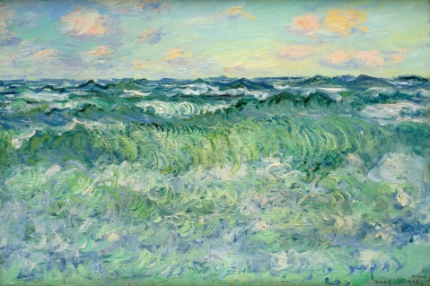 Fig 1. Claude Monet, Marine, Pourville, 1881