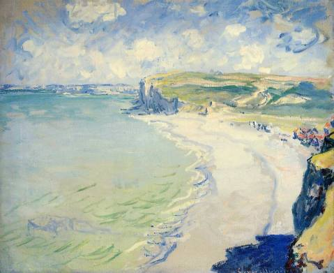 Fig 2. Claude Monet. Beach at Pourville, 1882.