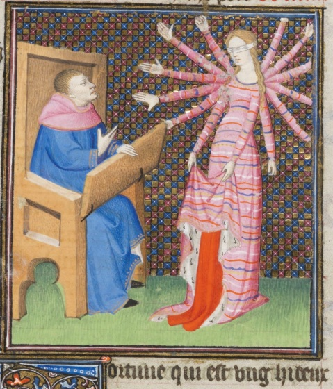 Fortuna. Giovanni Boccaccio, Des cas des nobles hommes et femmes. Paris ca. 1410.