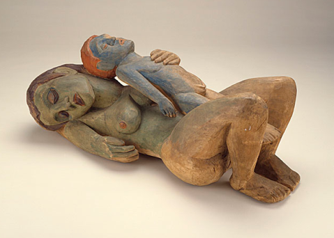 Hermann A. Scherer , Sleeping Woman with Boy, 1926