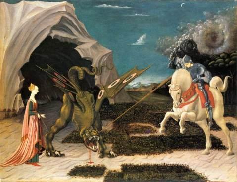 Paolo Uccello. S. Jorge e o Dragão. C. 1470.
