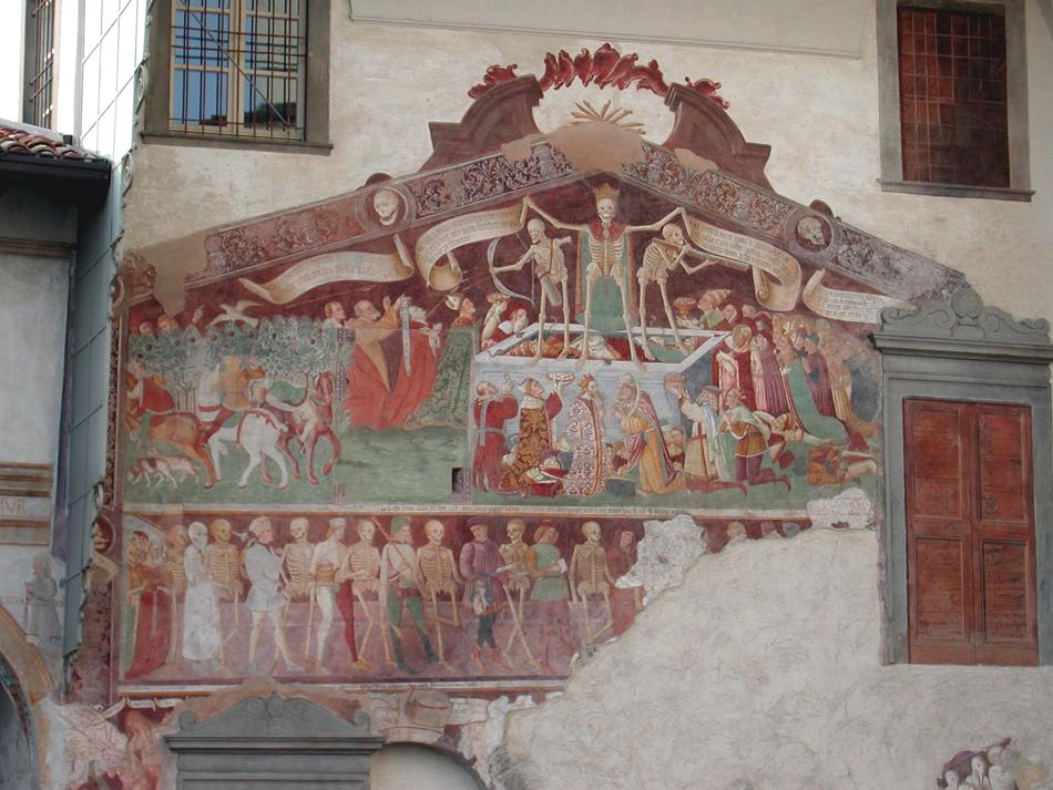 Dança macabra de Clusone. 1485.