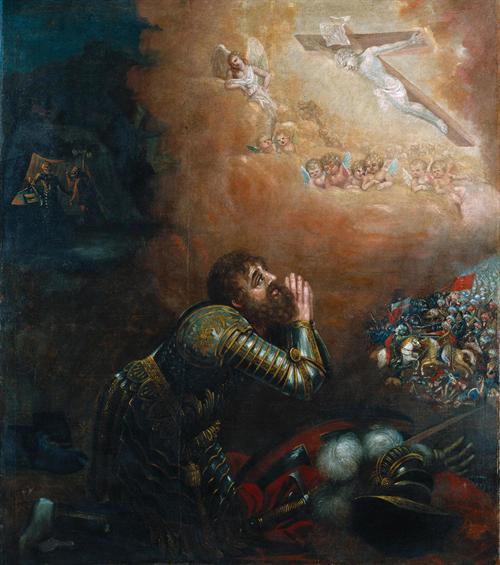 Frei Manuel dos Reis. Visão de D. Afonso Henriques na batalha de Ourique. 1665. Museu de Alberto Sampaio