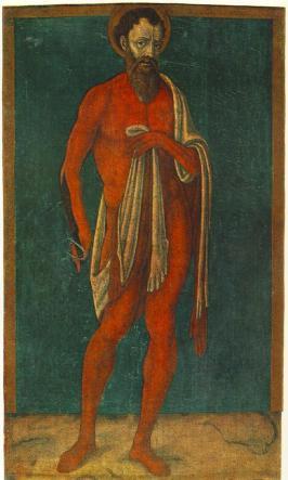 Matteo di Giovanni. O Apóstolo S.  Bartolomeu, c. 1480