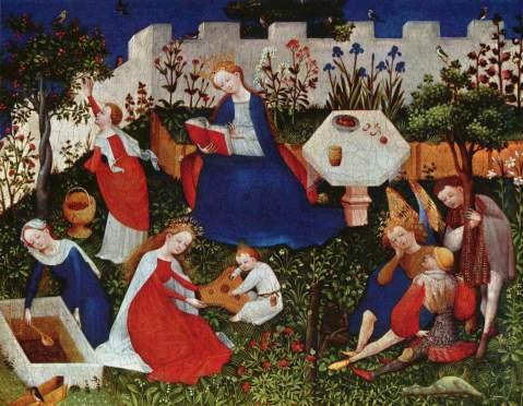 Mestre do Alto Reno. O Jardim do Paraíso. 1410-1420.