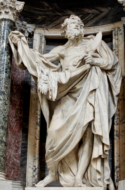 Pierre Le Gros, o Novo. Bartholomaeus. San Giovanni in Laterano. Início séc. XVIII