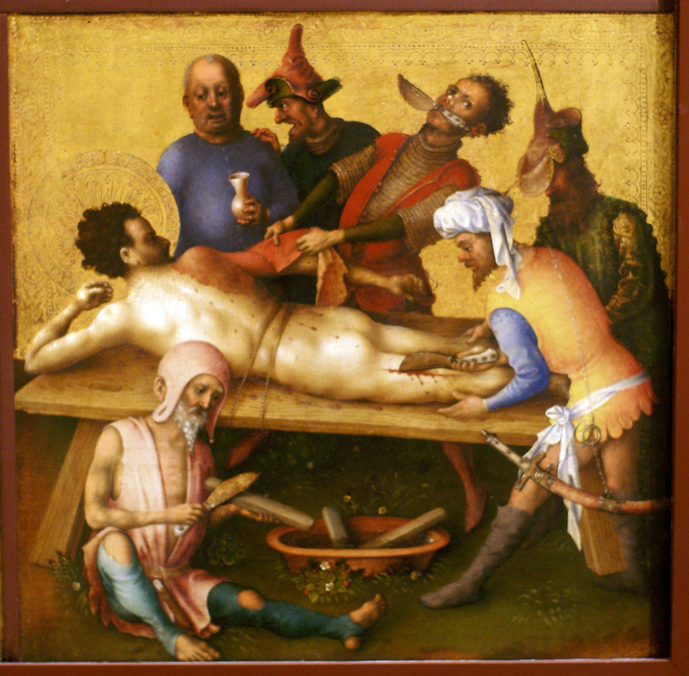 Stefan Lochner. Martírio de S. Bartolomeu. 1435.