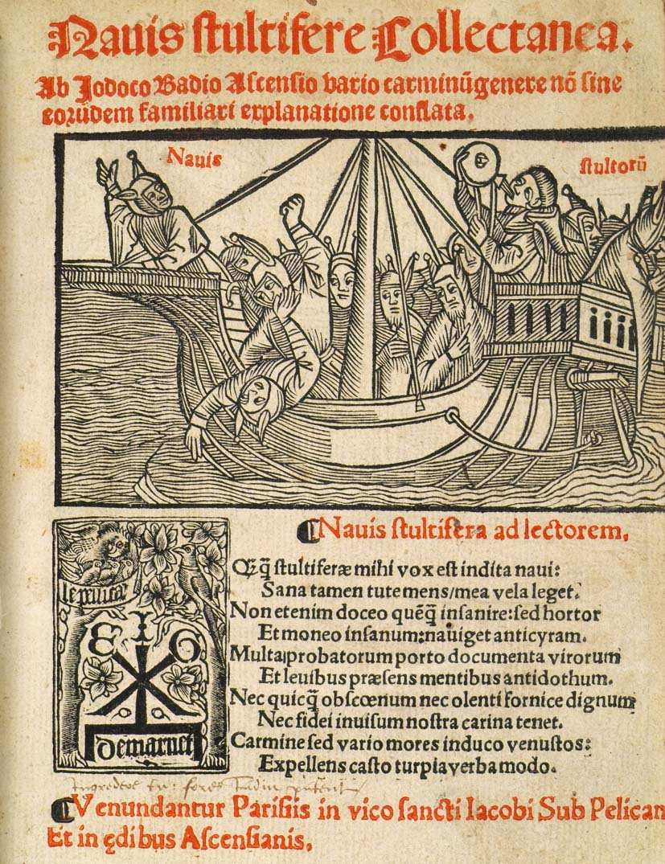 01 Stultifera Navis (A Nave dos Loucos), de Sebastian Brant. 1594.