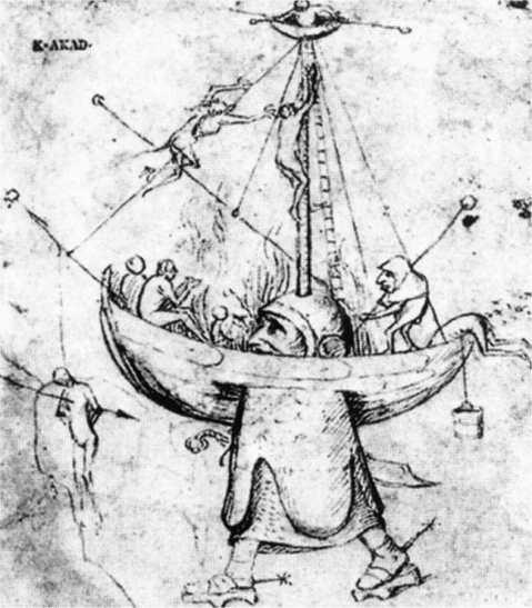 07 A Nave em Chamas. Atribuído a Hieronymus Bosch (1450-1516,