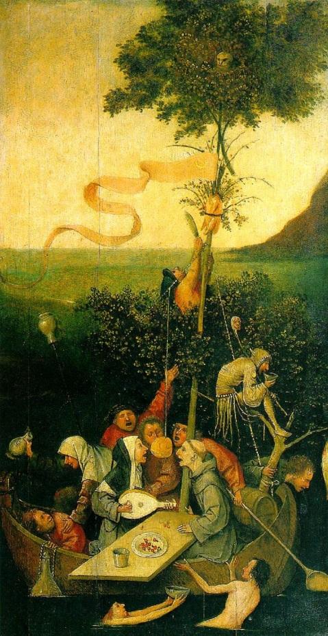 08 Hieronymus Bosch. A Nave dos Loucos. 1490-1500.