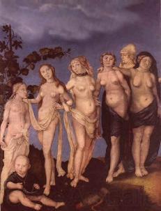 Hans Baldung. Grien Die sieben Lebensalter des Weibes. 1544