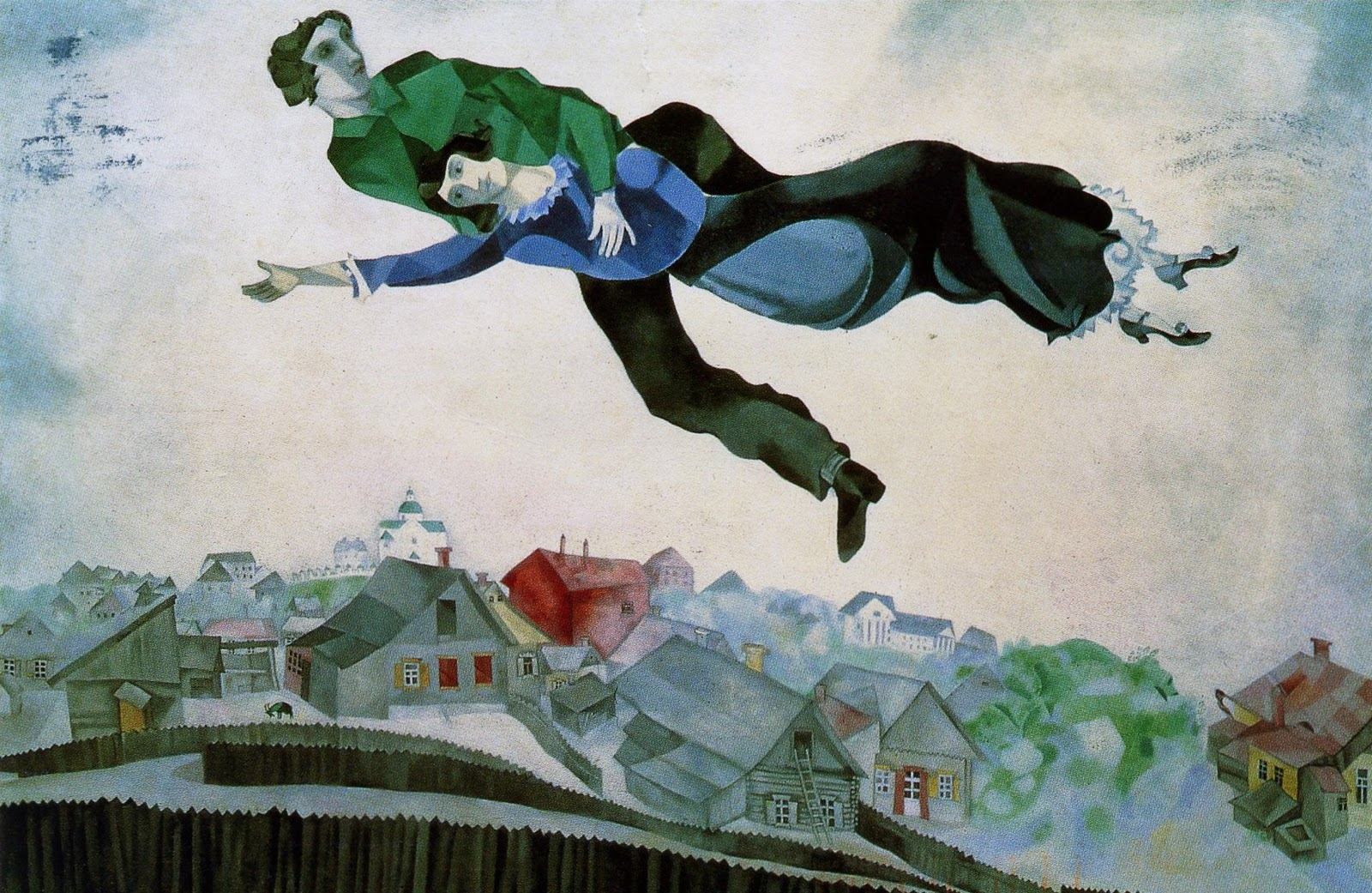 Marc Chagall. Over the town. 1918