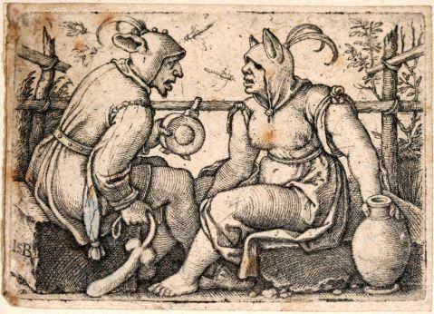 Hans Sebald Beham. The Fool and the Lady Fool. c. 1540