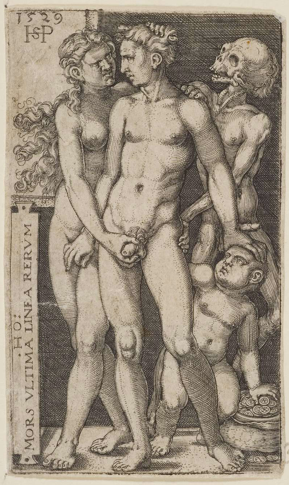 02 Hans Sebald Beham. Death and the Indecent Pair. 1529