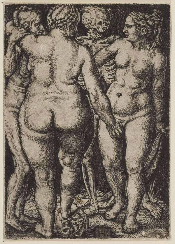 03 Hans Sebald Beham. Morte e Três Mulheres Nuas. 1540.