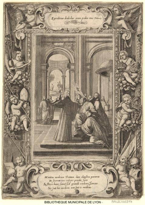04 Sébastien Leclerc. São Bento cura com uma bofetada um religioso possuído pelo demónio., 1637-1714