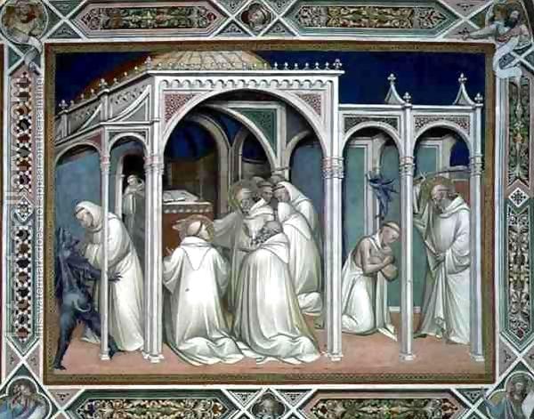 05  Spinello Aretino, O Santo Liberta um monge possuído.  Sacristia da Basílica San Miniato al Monte. Florença.  1387