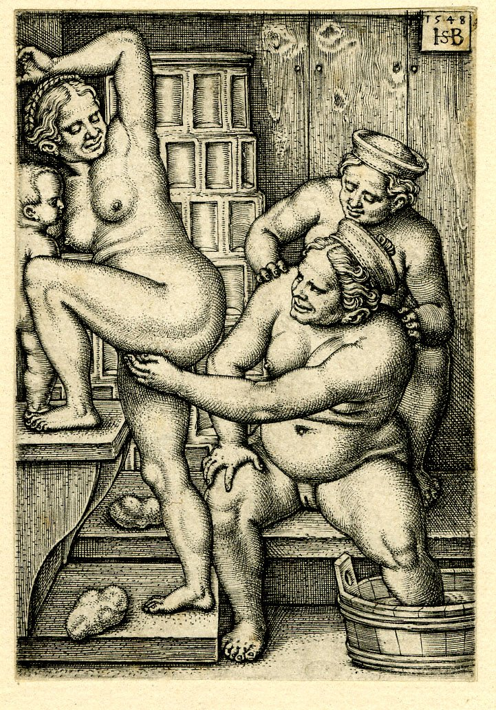 05 Hans Sebald Beham. Three women in the bath-house. 1548.
