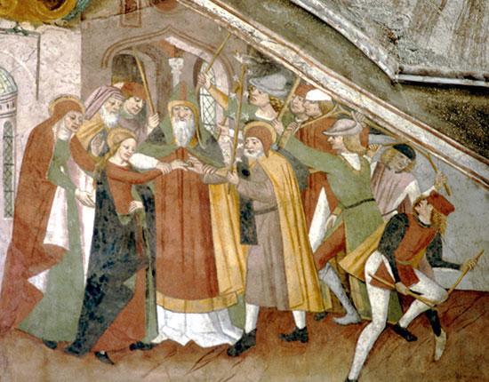 Casamento de Maria. Notre Dame des Fontaines. França. Fim séc. XV.