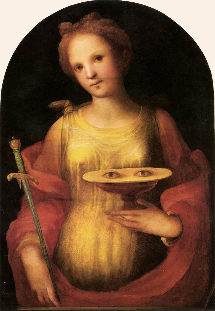 Domenico Beccafumi. Santa Luzia. 1521.