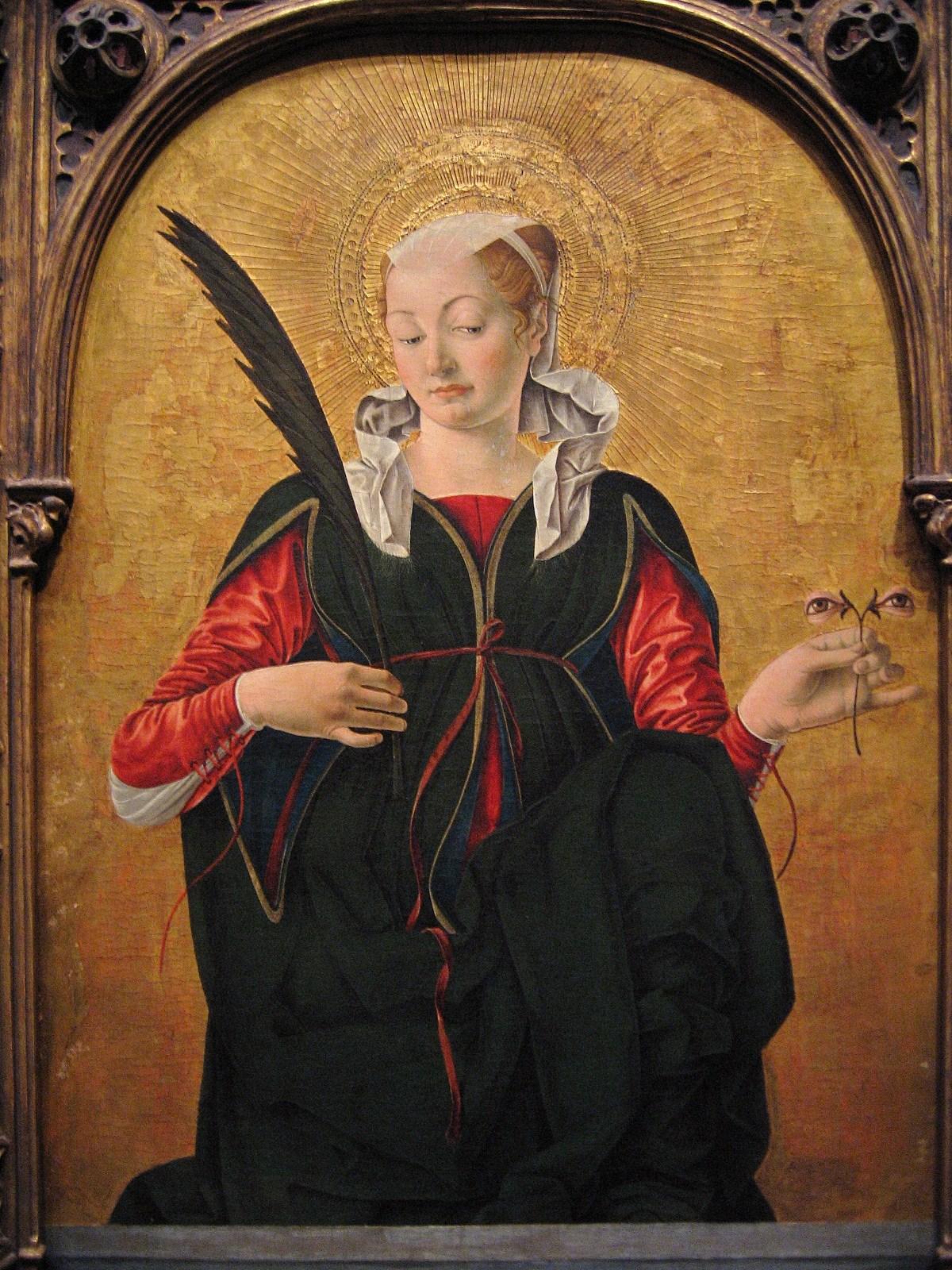 Francesco del Cossa. Santa Luzia, Após 1470.