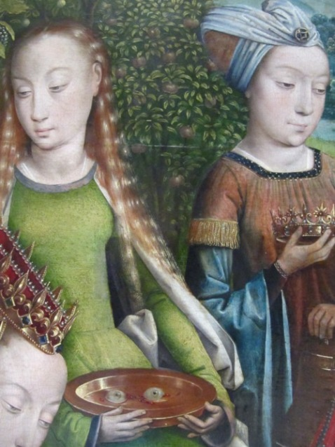 Master of the Legend of Saint Lucy, The Virgin Mary Among the Virgins (detail), last quarter of the 15th century,