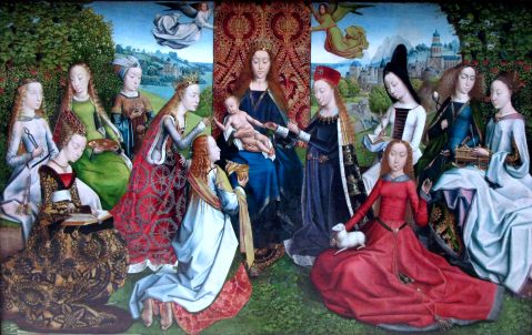 Master of the Legend of Saint Lucy. The Virgin Mary Among the Virgins. Last quarter of the 15th century.