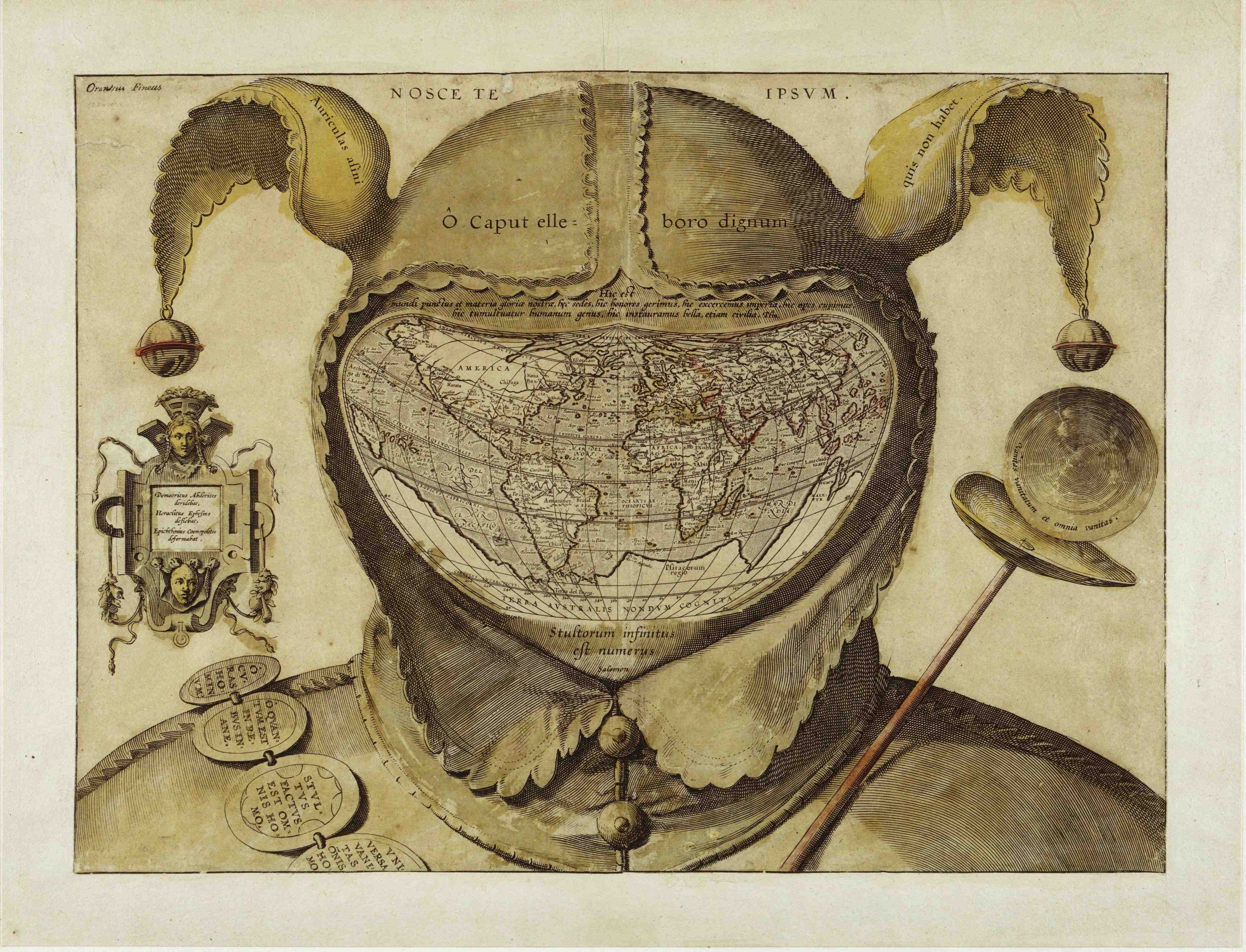 The Fool's Cap Map of the World, circa 1580-1590