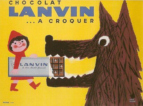 Chocolat Lanvin, ca. 1950.