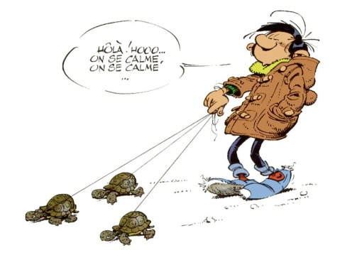 Gaston Lagaffe. On se calme.