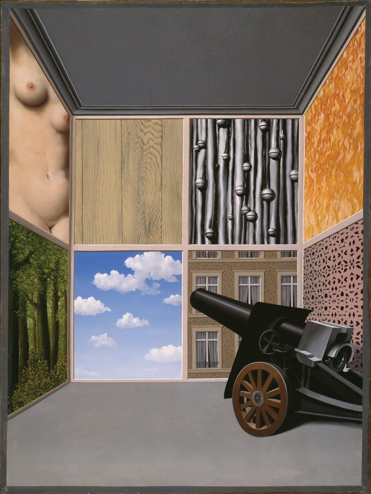 René Magritte. Au Seuil de la Liberté. 1937.