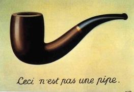René Magritte. Ceci nést pas une pipe. 1928-29.