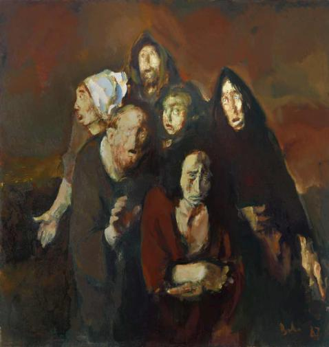 Cornelius Baba. The fear (Homage to Francisco Goya). 1987.