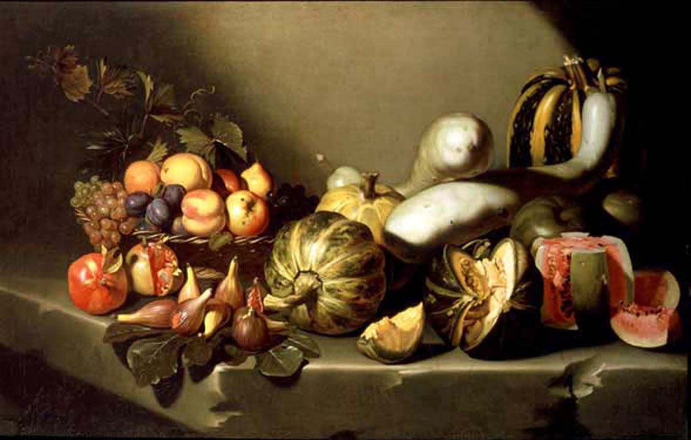Figura 1. Michelangelo Caravaggio. Still life with fruit. 1601-1605.