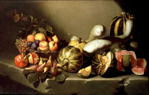 Figura 1. Michelangelo Caravaggio. Still life with fruit. 1601-1605.