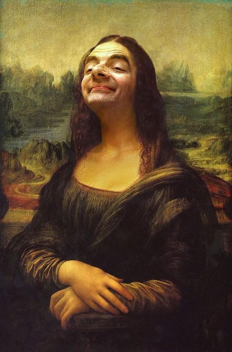 Rodney Pike. Mr Bean Mona Lisa.