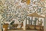 03 Vindima e prensa das uvas. Mosaico. Igreja de Santa Constanza. Roma. Séc. IV.