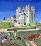 06 Très Riches Heures du Duc de Berry.  Mês Setembro. C. 1400.