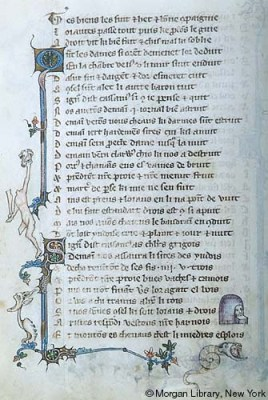 Fig 3. Voeux du paon. Northern France or Belgium, possibly Tournai, ca. 1350.