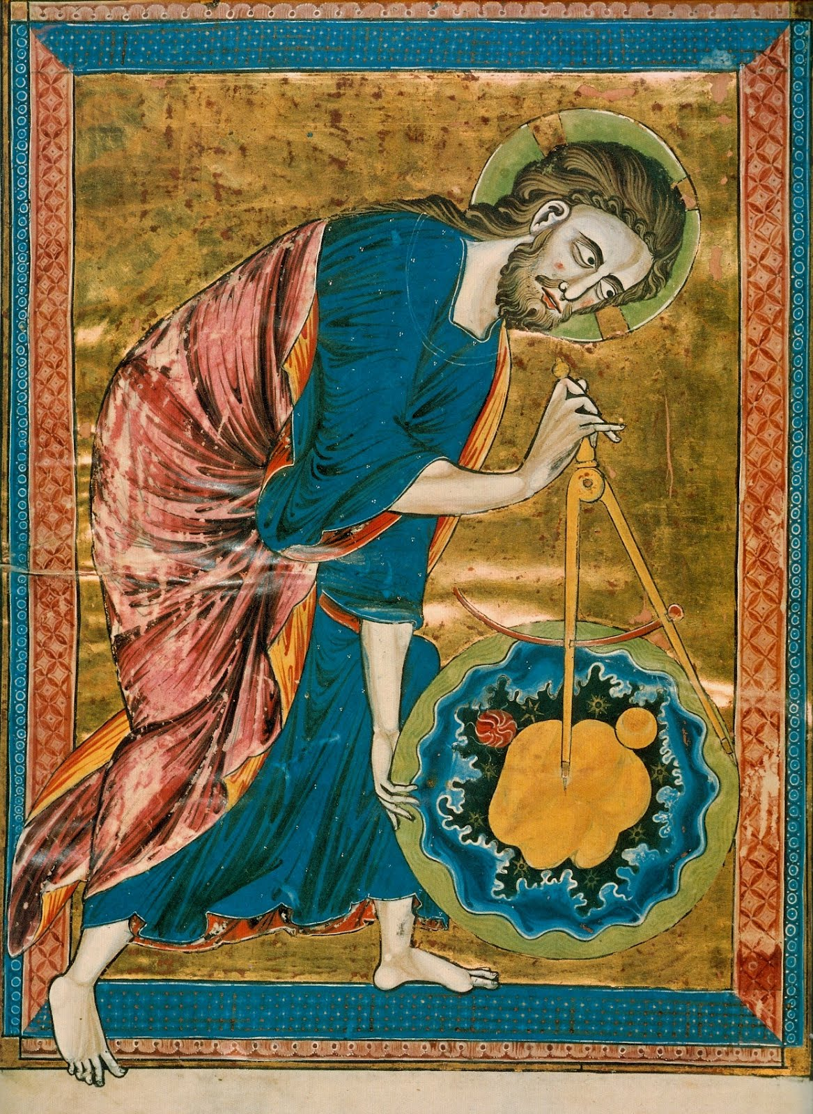 God the Geometer. Codex Vindobonensis, ca 1250.