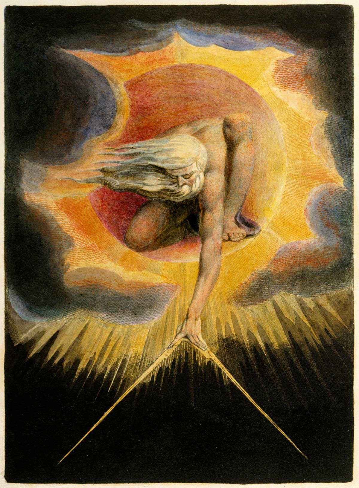 William Blake. The Ancient of Days, 1794.