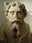 Fig 02. Statue of Moses c.1150-1200, St. Mary's Abbey, now in the Yorkshire Museum. Detail.