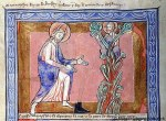 Fig 03. Arbusto flamejante. Huntingfield Psalter. 1210-1220.