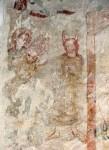 Fig 05. Fresco medieval. Deus dá a tábua dos dez mandamentos a Moisési. St. Andrews Church in Westhall.