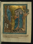 Fig 06. William de Brailes. The Israelites Worship the Golden Calf and Moses Breaks the Tablets. circa 1250