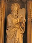 Fig 10.  Moses with Horns in the Chapel at New College, Oxford. 1350. Detail.