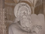 Fig 11 Moses with Horns in the Chapel at New College, Oxford. 1350. Detail.