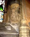 Fig 15. Janela da Capela de Rosslyn (construída ente 1446 e 1484).  Moisés.