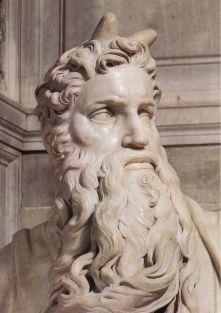 Michelangelo. Moisés. 1513-1515. Pormenor.